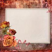 Papel en blanco sobre fondo texturizado — Foto de Stock