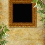 Retro background with decorative frame — Stock Photo