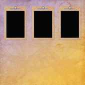 Retro background with frame — Stock Photo