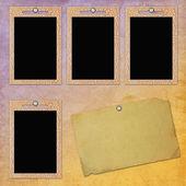 Foto-frames op gestructureerde achtergrond — Stockfoto