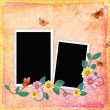 Summer background with frames — Stock Photo