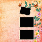 Summer background with frames — Stockfoto