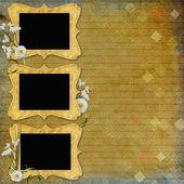 Vintage achtergrond met frames — Stockfoto