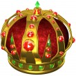 Gold royal crown - Stock Photo