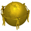 Gold around of the Earth — Stock Photo