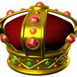 Stock Photo: Gold royal crown