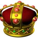 Gold royal crown — Stock Photo