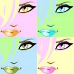Colourful pop-art poster — Stock Vector