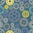 Royalty-Free Stock Vector Image: Seamless cogs background