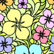 Colorful flowers seamless pattern — Stock Vector