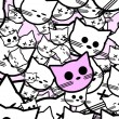 Background with funny cats — Imagen vectorial
