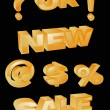 Royalty-Free Stock Obraz wektorowy: Collection of gold 3d icons