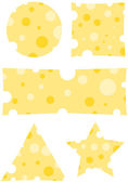 Five cheese banners — Stock Vector