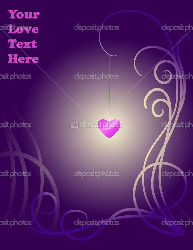 Pink Love Lamp. Vector illustration — Stock Vector #1188404