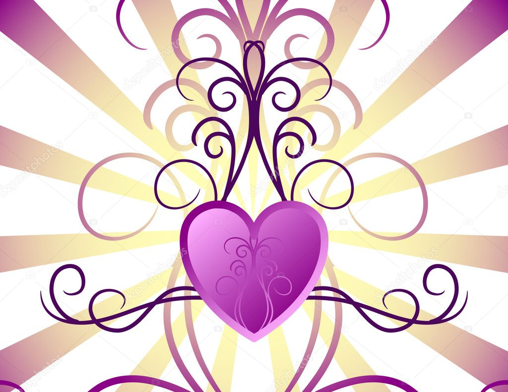 Pink love background. Vector illustration — Imagen vectorial #1188411