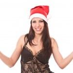 Beautiful girl in christmas cap. — Stock Photo #1288328