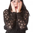 Scared girl brunette — Stock Photo #1643468
