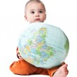 Lovely little boy with globe — Stock Photo #1643554
