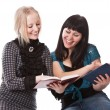 Two beautiful girls with books — Stock Photo #1643774