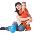 Happy mum and child — Stock Photo