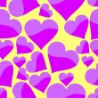 Seamless pattern with heart — Imagen vectorial