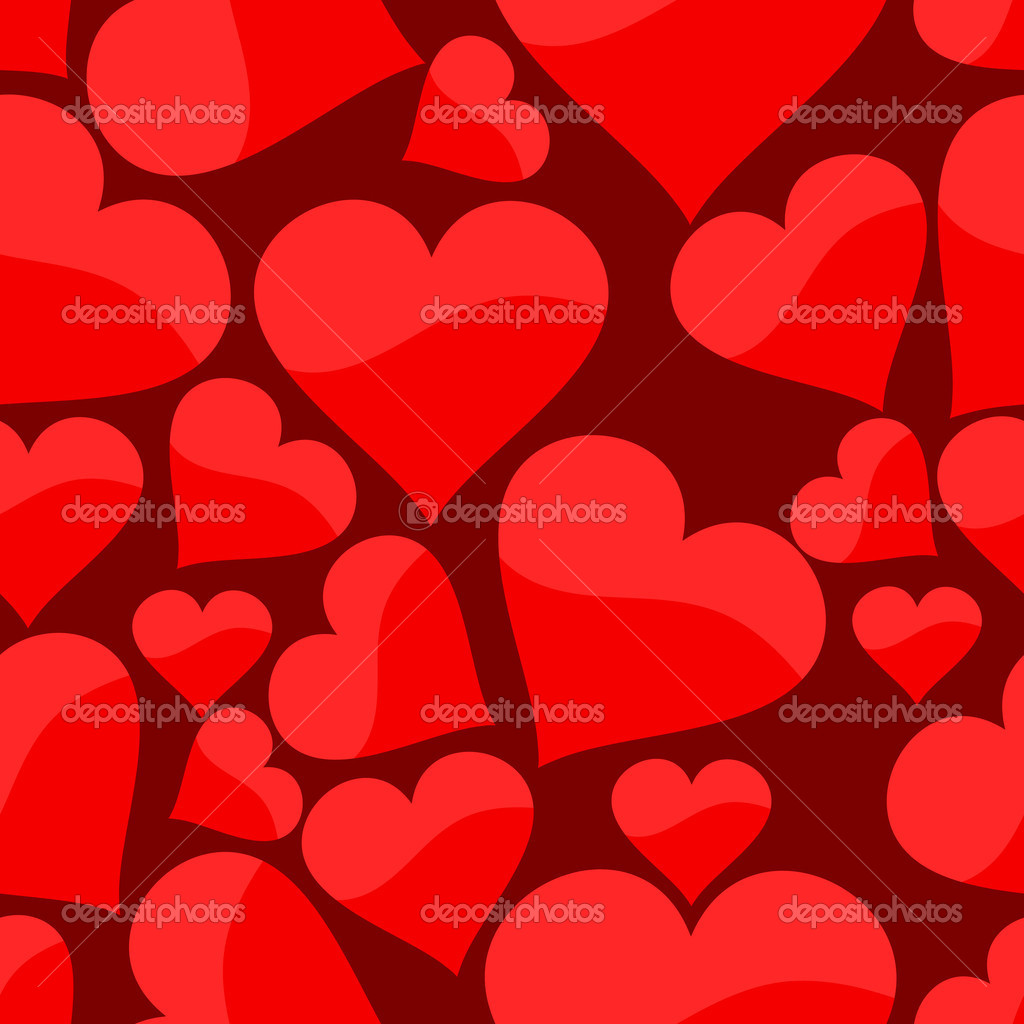 Seamless pattern with heart. Vector illustration — Stock vektor #1917396