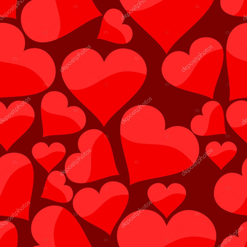 Seamless pattern with heart. Vector illustration — ベクター素材ストック #1917396