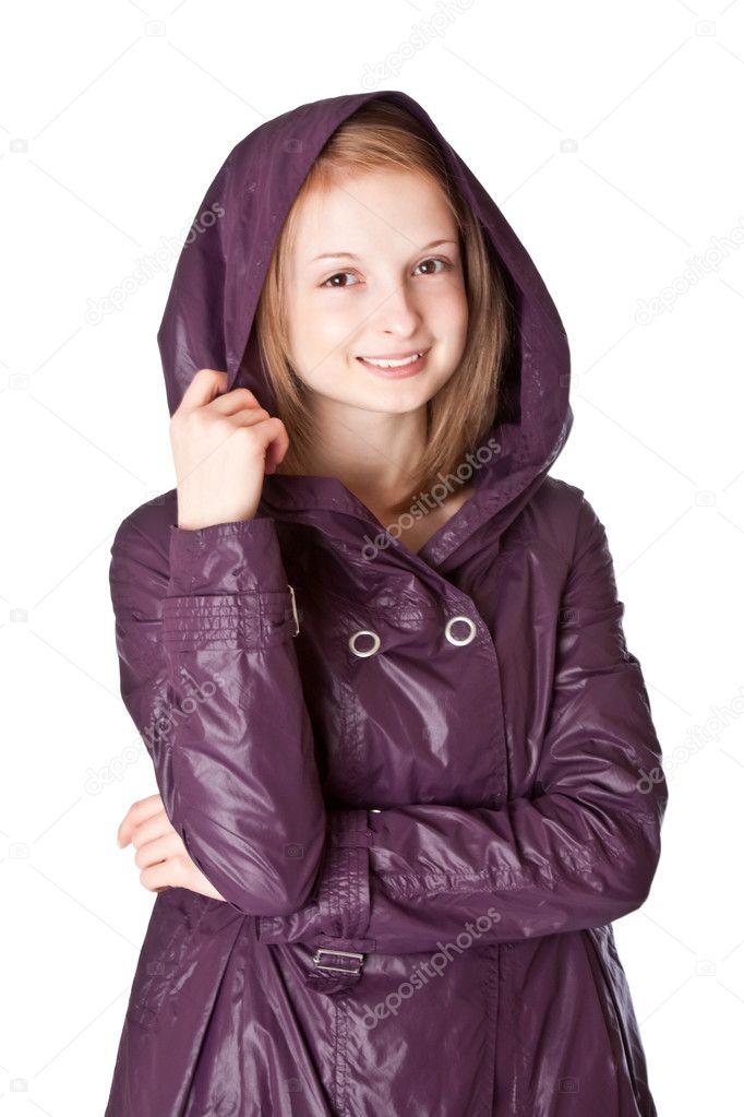 Girl in raincoat — Stock Photo © saranai 2551576