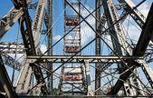 Giant ferris (observation) wheel in Prat — Stock Photo