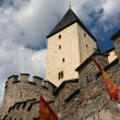 Main tower (keep) of medieval castle — Stock Photo