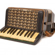 Vintage 1930s accordion isolated - Stock Photo