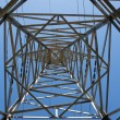 Steel support of power transmission line — Stock Photo