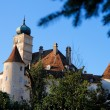 Towers and roofs of Renaissance castle — Stock Photo