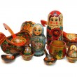Assorted Russifolk wooden toys and — Stock Photo #1171266