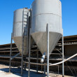 Two small tower silos on farm — Stock Photo #1171309
