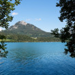 Stock Photo: Alpine lake and mountains in Salzkammerg