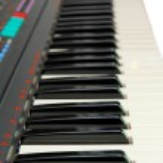 Keyboard of electric piano — Stock Photo