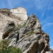 Ruins of an ancient castle on the rock — Foto Stock