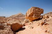 Weathered orange rocks in stone desert — Stock Photo