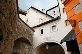 Towers and walls of Hohensalzburg castle — Stock Photo