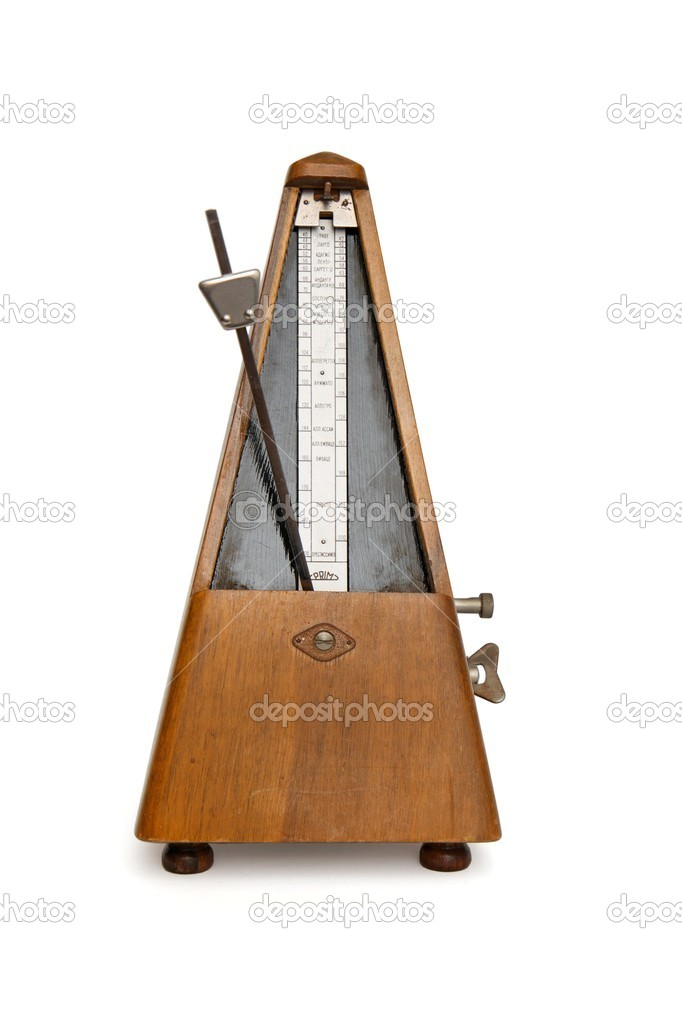 Antique Soviet-made musical metronome isolated on white background  Stock Photo #1170430