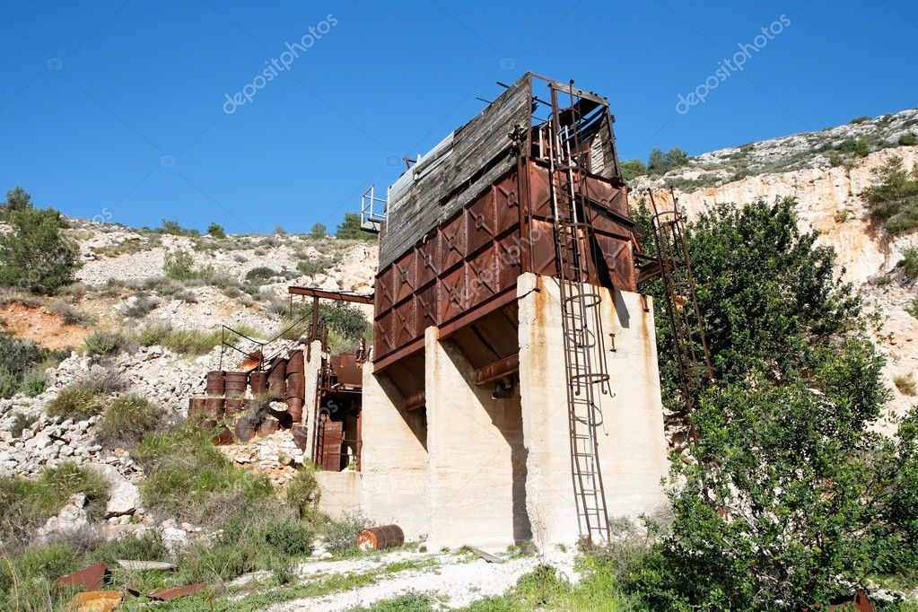 Old abandoned stone quarry on Carmel mount in Haifa, Israel — Stock Photo #1170520