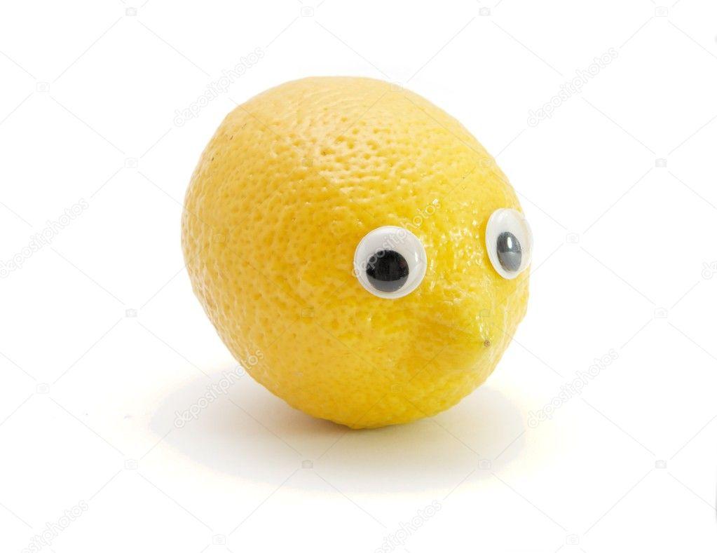 Grappige citroen fruit met ogen stockfoto 1172824 - Ogen grappig ...