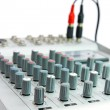 Controls of small sound mixer console — Stock Photo