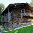 Stock Photo: Old farmer's wooden house