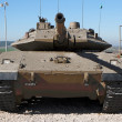 Stock Photo: New Israeli Merkavtank in museum