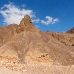 Scenic triangular rocks in stone desert — Stock Photo