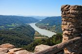 Ruins of medieval castle on Danube — Stock Photo