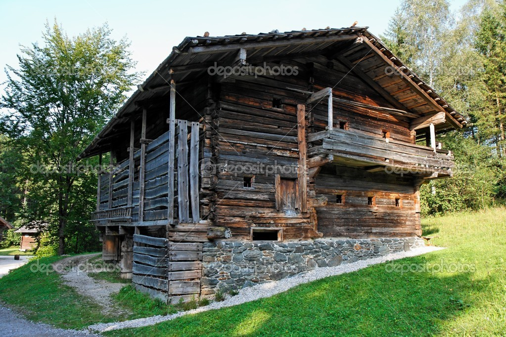 Old farmer's wooden house in open air museum, Salzburg, Austria — Stock Photo #2040976