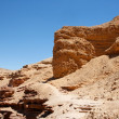 Red eroded rocks in desert — Stock Photo
